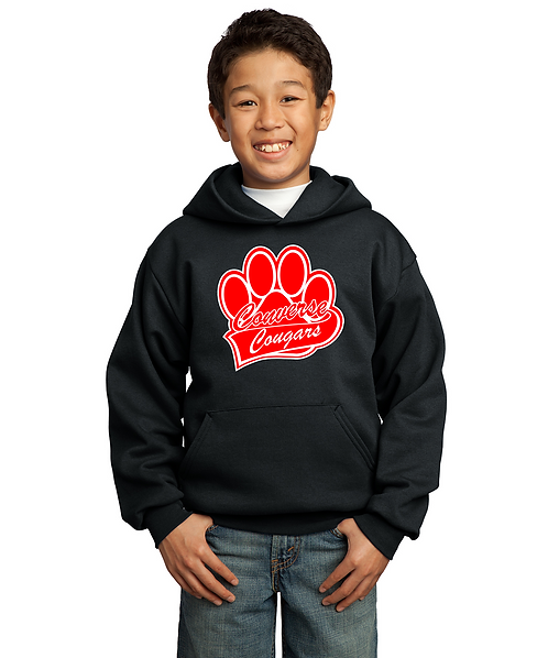 Youth Converse Paw Print Graphic Unisex Pullover Sweatshirt