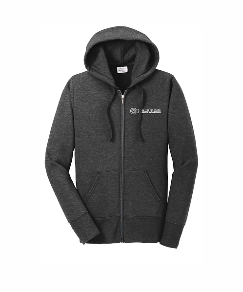 Mid-States Ladies Embroidered Core Fleece Full-Zip Hooded Sweatshirt