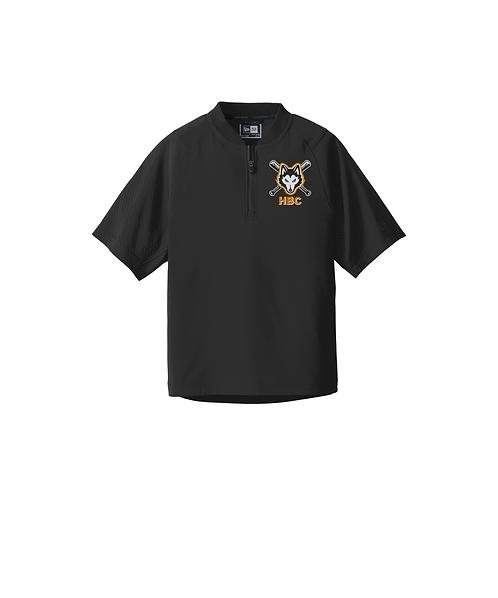 Harlem Huskies Embroidered YOUTH Black 1/4-Zip Jacket HBC Logo