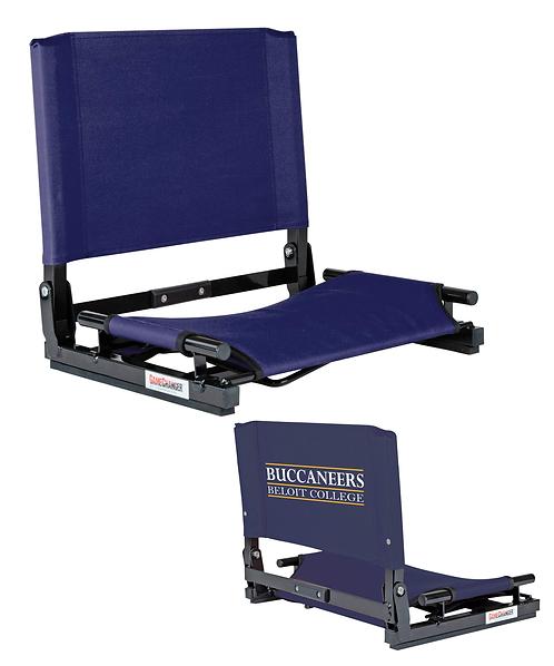 Beloit College Navy Canvas Stadium Chair