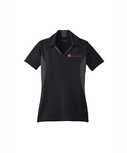 Mid-States Ladies Embroidered Side Blocked Micropique Sport-Wick Polo
