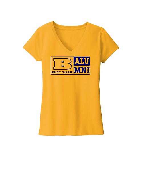 Beloit College Alumni Maize Yellow District Women's Re-Tee V-Neck
