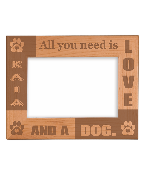 "Pet 5"" x 7"" Genuine Red Alder Picture Frame"