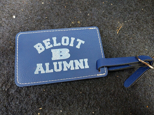 """College Store 4 1/4"""" x 2 3/4"""" Blue/Silver Leatherette Luggage Tag"""