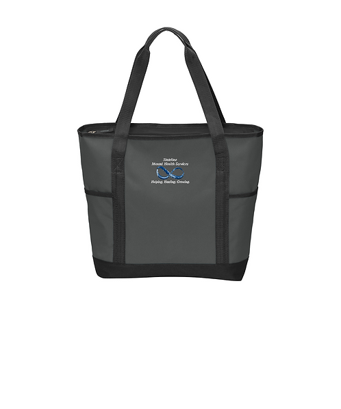 Stateline Mental Health Embroidered Dark Charcoal/Black On-The-Go Tote