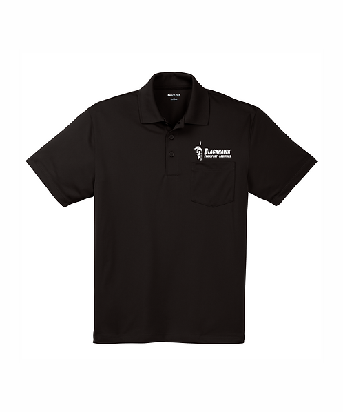 Blackhawk Transport Embroidered Men's Micropique Sport-Wick Pocket Polo