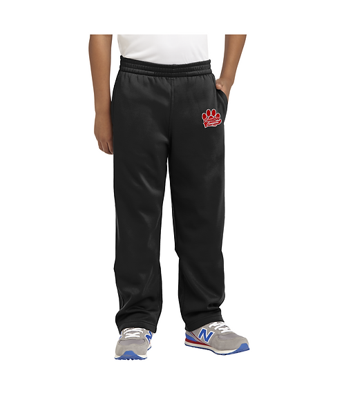Converse Youth Black Embroidered Sport-Wick® Fleece Pant