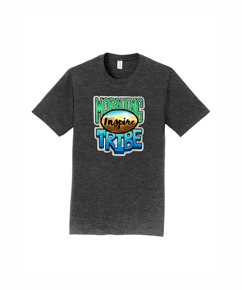 Port & Company Fan Favorite Tee w/ Direct to Garment Morning Tribe Design