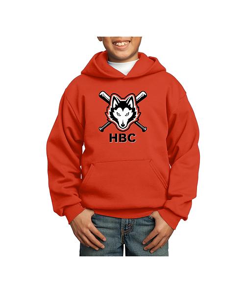 Harlem Huskies Orange Core Fleece Pullover Hooded Sweatshirt