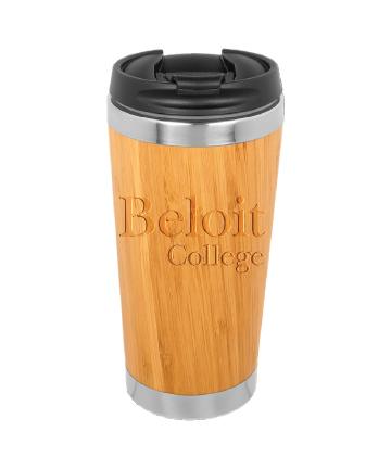 Beloit College 15 oz. Bamboo Stainless Steel Tumbler