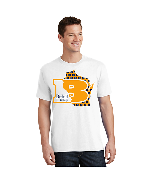 """College Store """"Beloit College B in State of WI"""" Tee"""