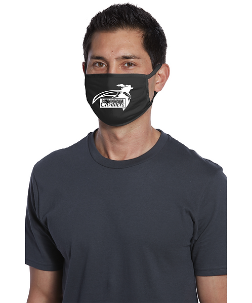 Adult Cunningham Black Cotton Knit Face Mask