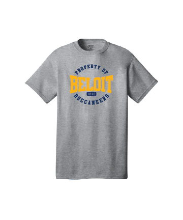 Beloit College Athletic Hthr Port & Company® Core Cotton Tee w/ Property of