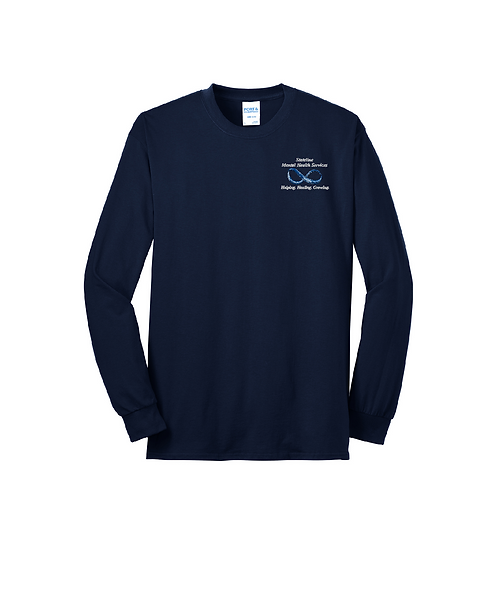 Stateline Mental Health Embroidered Long Sleeve Core Blend Tee