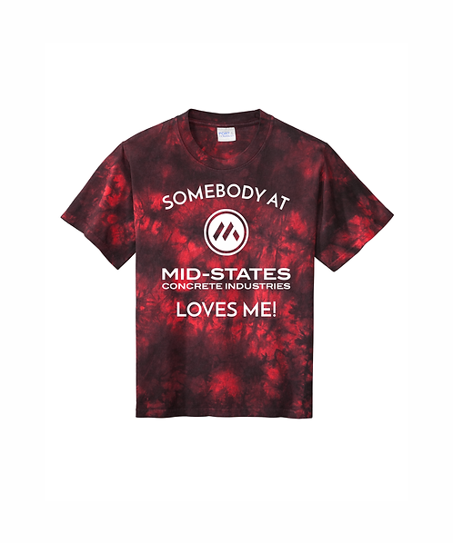 Somebody at Mid-States Loves Me - Youth Crystal Tie-Dye Tee