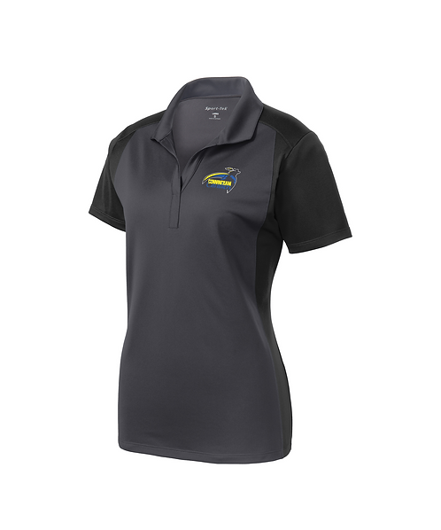 Cunningham Cavaliers Embroidered Ladies Colorblock Micropique Sport-Wick Polo