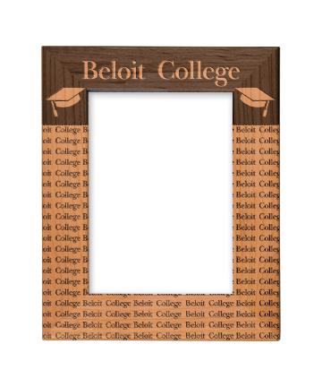 "Beloit College 5"" x 7"" Red Alder Picture Frame"