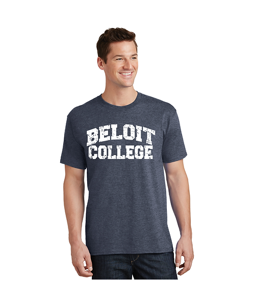 """College Store """"Beloit College"""" Distressed Arched Logo Tee"""