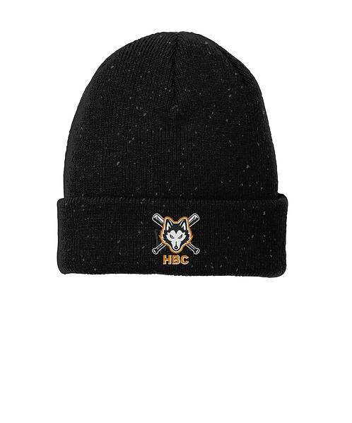 Harlem Huskies Embroidered Black/Graphite Speckled Beanie