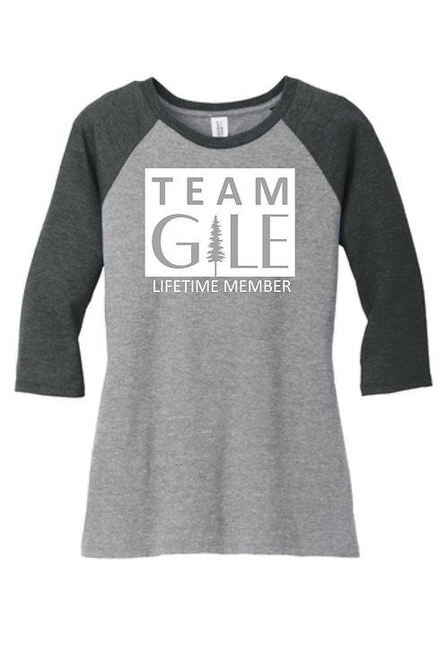 TEAM GILE- District ® Women's Perfect Tri ® 3/4-Sleeve Raglan