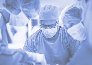 A surgeon works in the NHS