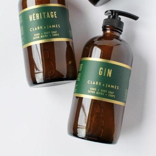 Clark & James Gin liquid soap