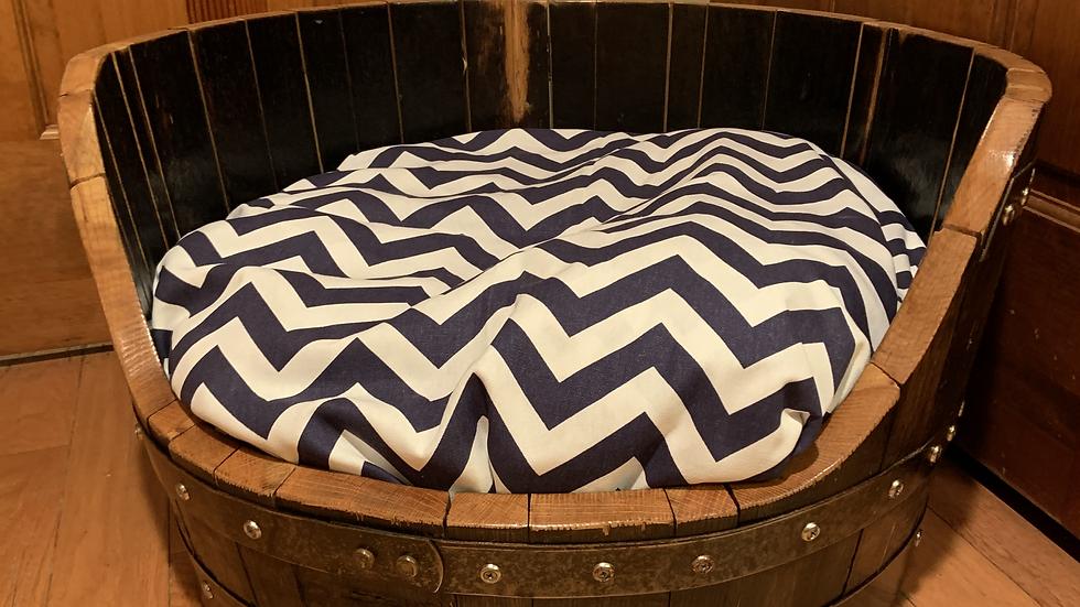 Half Barrel Dog Bed