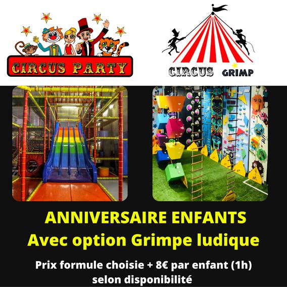 anniversaire circus grimp + circus party