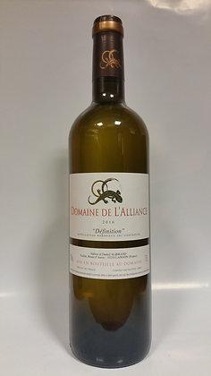 """Bordeaux blanc """"Définition"""" Domaine de L'Alliance 2016"""