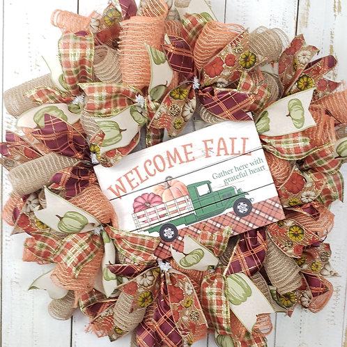 Welcome, Fall Wreath