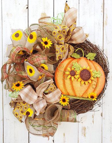 Pumpkin Fall Wreath