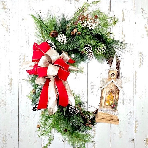 Christmas Church Wreath