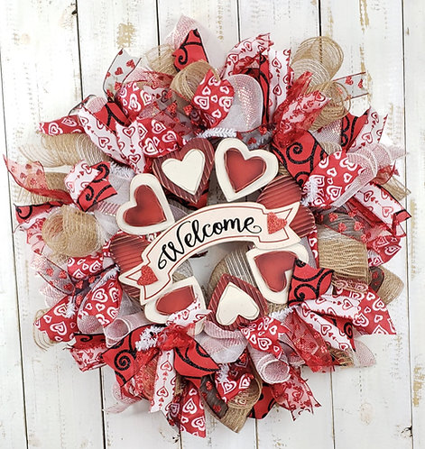 Valentine's Day Welcome Wreath