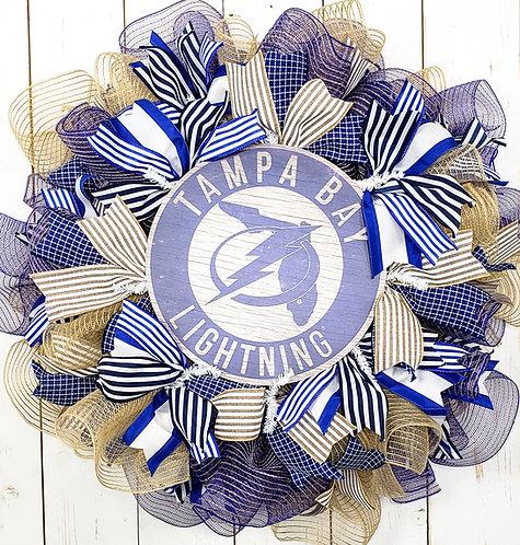 Tampa Bay Lightning Wreath -Natural