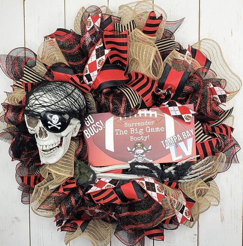 Tampa Bay Buccaneers Super Bowl Wreath