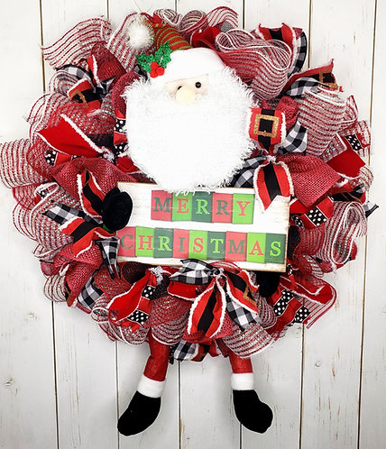 Santa Merry Christmas Wrteath