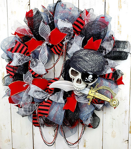 Gasparilla Wreath, Gasparilla Skull Wreath, Gasparilla Pirate Wreath