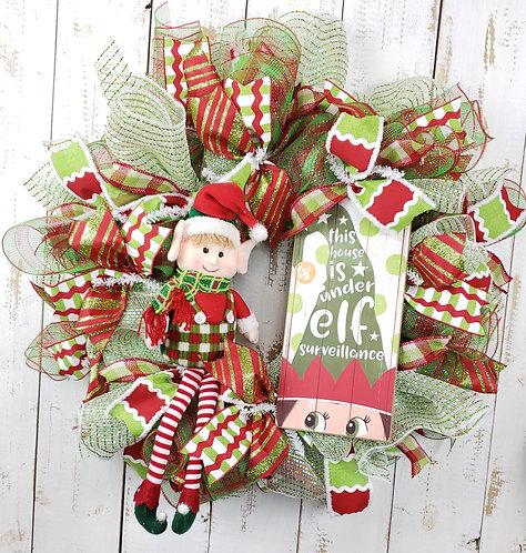 Elf On the Shelf Wreath