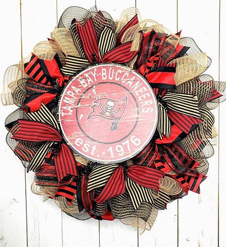 Tampa Bay Buccaneers est 1976 Wreath, Buccaneers Wreath, Tampa Buccaneers Wreath