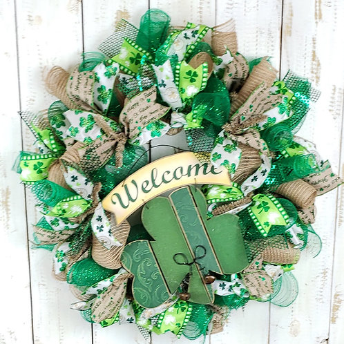 St Patrick's Day Welcome Wreath