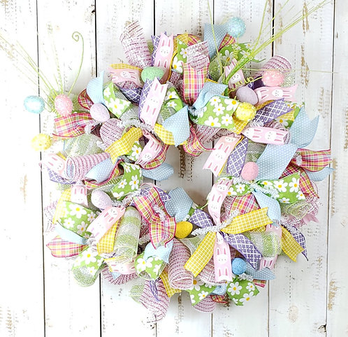 Pastel Easter Wreath