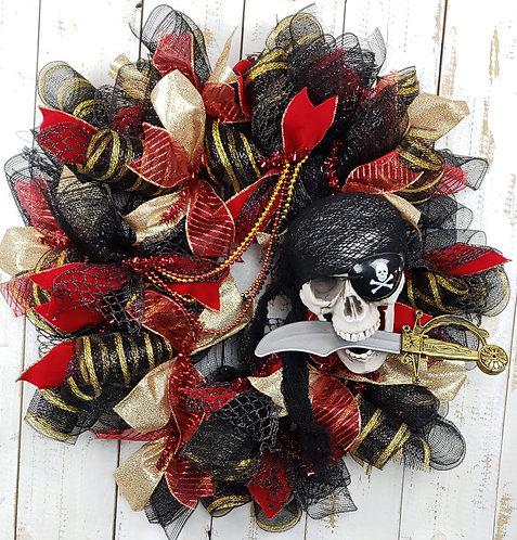 Gasparilla Skull Wreath, Gasparilla Wreath, Gasparilla Skull and Dagger Wreath