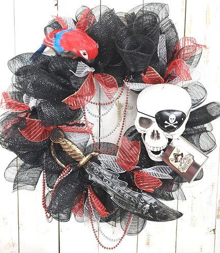 Gasparilla Wreath, Gasparilla Skull Wreath. Tampa Gasparilla Wreath, Gasparilla
