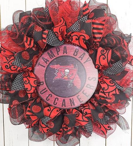 Tampa Bay Buccaneers Wreath- vibrant