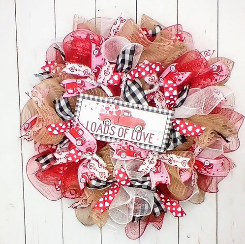 Loads of Love Valentines Day Wreath