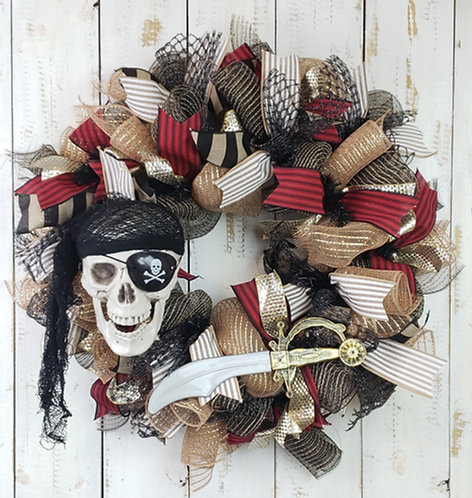 Gasparilla Skull Wreath,  Gasparilla Wreath,  Gasparilla Wreath Tampa