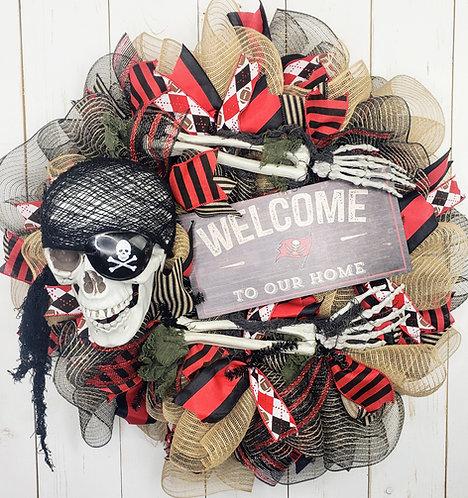Tampa Bay Buccaneers Wreath