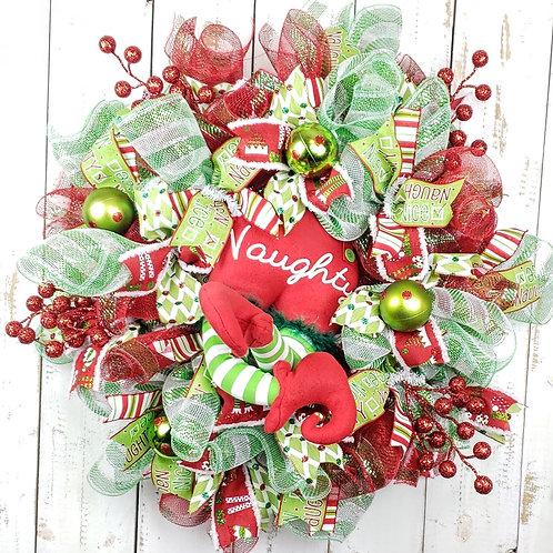 Naughty Elf Wreath