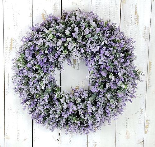 Lavender Boxwood  Wreath