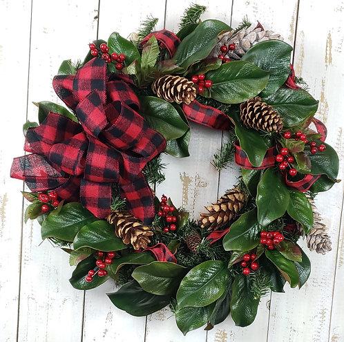 Pine and Magnolia Wreath